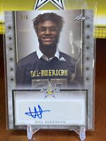 Will Anderson 2020 Leaf Metal All American Bowl Auto 3/6 Tour Autograph Alabama