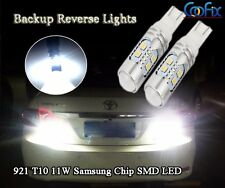 2pcs 921 T10 11W Samsung LED High Power 6000K White Backup Reverse Light Bulbs