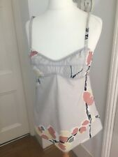 Marni, Oatmeal Summer Vest Top (Camisole), 100% Cotton, Size S (8), VGC