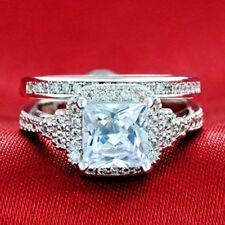 Wedding Ring Set Luxury CZ Jewelry Rings Cincin Wanita Cubic Zirconia Bridal Set