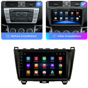 9'' Android 9.1 Car Stereo Radio Head Unit GPS For Mazda 6 2008-2012 w/ Canbus