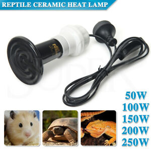 Black Heat Emitter Lamp Reptile Brooder Incubator Ceramic Infrared Light