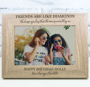 Personalised Birthday Photo Frame Birthday Gift 16th 18th 21st 30th 40th 50th
