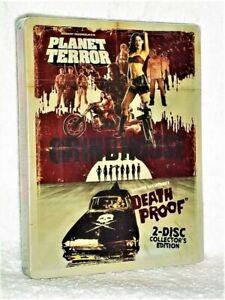 Planet Terror / Death Proof STEELBOOK (Blu-ray, 2018, 2-Disc) Quentin Tarantino