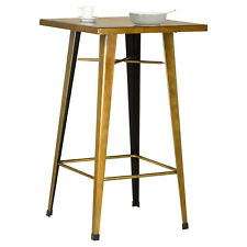 Hartleys Tall Brass Industrial High Metal Breakfast Table Kitchen/Bar/Bistro