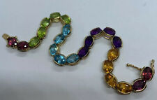 14k Rainbow Gemstone Bracelet