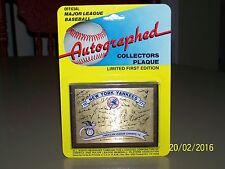 New York Yankees 1977 Plaque World Series Champions New Old Stock Signed 4 x 3