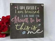 Handmade Wall Plaque The Greatest Showman Inspirational Quote, This is me