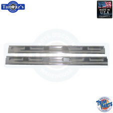 70-74 Mopar E Body Door Sill Trim Scuff Plates - Pair USA-Made Trim Parts New