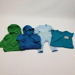 Bonds Baby Boys Size 00 Lot of 4 Jumpers Hoodies Shirt Easysuit