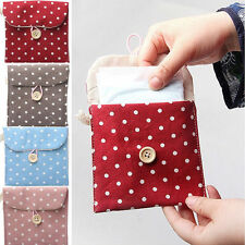 Lady Bowknot Sanitary Napkins Pads Carrying Easy Bag Small Pouch Case Bag