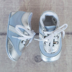 Dior Baby Faux Leather Light Blue Sneakers Shoes Boots 16 US 0 Newborn Girls ...