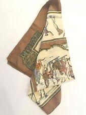 Hermes 100% Silk Scarf Rare Design