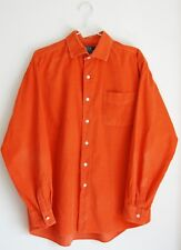 mens orange RALPH LAUREN fine cord long sleeved shirt size L Large