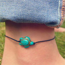 Women Boho Turquoise Turtle Ankle Chain Bracelet Foot Chain Beach Jewelry new.