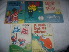 Dr. Seuss-5 Beginner Books, 4 1st Edition Book Club, full number line, excellent