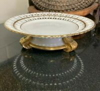"Vista Alegre 9 3/8"" Pierced / Reticulated Compote or Cake Stand Portugal"