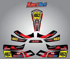 Arrow AX9 full custom KART ART sticker kit THUNDER STYLE / graphics / decals