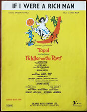 """If I Were A Rich Man from """"Fiddler on the Roof"""" – Pub. 1964"""