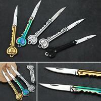 OK Key Pocket Folding Chain Sharping Knife Cutting Cutter Outdoor Survival