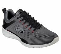 Charcoal Skechers Shoes Wide Mens Memory Foam Mesh Train 52927 EWW Extra Comfort