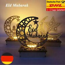 Ramadan Mubarak Eid Dekorationen Holz Mondlicht Ornamente für Home Party DE DHL