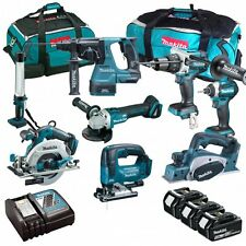MAKITA 18V LI-ION 8 PIECE BRUSHLESS KIT WITH 3 X 5.0AH BATTERIES AND 2 X BAGS