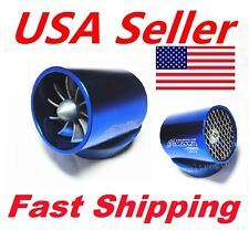 Car Intake Fuel Gas Saver Hybrid Supercharger Turbo Cold Air Intake Fan & Mesh