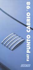 Fiat Punto Cabrio Preisliste 3.4.97 1998 Autopreisliste Preise Auto PKWs Italien