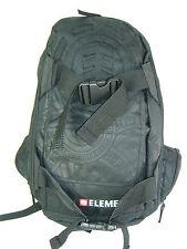 New Mens ELEMENT Skate Backpack School Book Bag BLACK ON BLACK Large