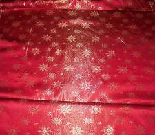 Dekostoff (€15/m²) 0,5 m Satin Weihnachtsstoff Kristalle Sterne 1,6m breit