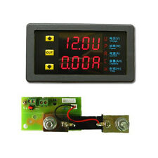 DC90V 50A + Shunt Voltmeter Amperemeter Anzeige Spannung Strom Kapazität 12V 24V
