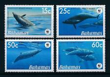 bahamas ca 2007 wwf whales baleines wale ballennas nature mesoplodon 4v mnh **