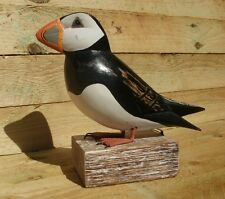 ARCHIPELAGO WOOD CARVING  - PUFFIN STRAIGHT D97  - NEXT DAY DELIVERY