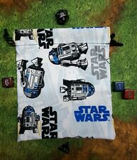 Star Wars R2D2 dice bag, card bag, makeup bag, small gift bag