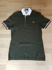 Fred Perry Men's Dark Army Green Polo T Shirt Small Casual Smart **Free P&P**