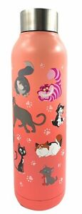 Disney Parks I Love Cats Stainless Steel Water Bottle Tumbler Exclusive - NEW
