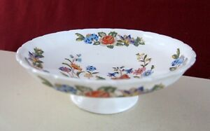 AYNSLEY COTTAGE GARDEN  BONE CHINA FOOTED CANDY DISH BOWL  ENGLAND
