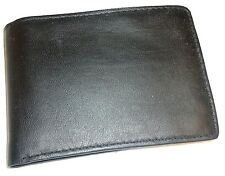 Van Heusen Genuine Leather Billfold Wallet, Black