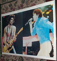 ROLLING STONES Keith & Mick Jagger 1982  POSTER ONLY ONE