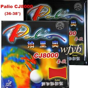 Palio CJ8000 Table Tennis Ping Pong pips-in Rubbers 36-38 Degree/Spong 2.2mm US