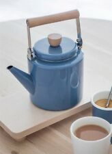 Blue coloured enamel stove kettle - perfect for gas hobs and stoves