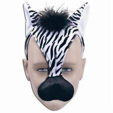 Noisy Zebra Mask With Sound FX Animal Fancy Dress Costume Accessory P1722