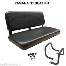 Yamaha G1 Golf Cart Replacment Front Bench Seat Kit Black Vinyl