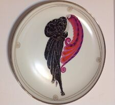 "House Of Erte ""Beauty And The Beast"" Franklin Mint Porcelain Plate 1995"