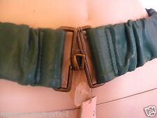 MEXX CEINTURE féminine taille ou hanches vert sapin M L extensible confortable