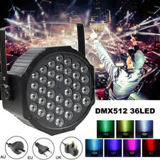 36LED DMX512 Voice-activated Party Disco Stage Lighting RGB Effect Lamp + Remote