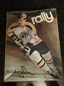 1970 NHL Bobby Orr Rally Hockey Skates Boston Bruins Signature W/Box  Size 6