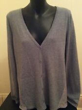 metalicus Fortuna Spliced Cardi Grey Size M/l With Tags
