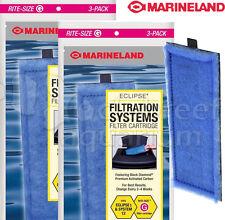 2 Packs Eclipse 1 Rite Size G Aquarium Filter Cartridge Marineland 6 Cartridges